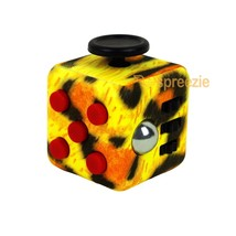 Cheetah Print Fidget Cube Toy Anxiety Stress Relief Focus Attention Work... - $5.99