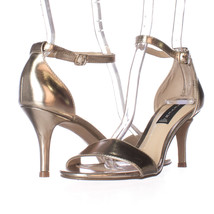 Steve Madden Vienna Ankle Strap Dress Sandals, Gold, 7.5 US Display - £27.32 GBP