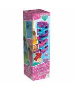 Disney Princesses~Cinderella~Snow White~Ariel~Belle Wood Tower Block Bo... - $32.33