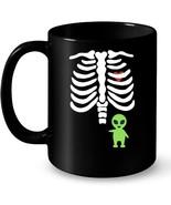 Funny Halloween Skeleton Alien Baby Costume Ceramic Mug - $13.99+