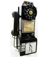 Western Electric Pay Telephone 3 Coin Slot 1960's Rotary Dial Operational - $895.00