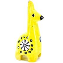 Tabaka Chigware Hand Carved Kisii Soapstone Miniature Yellow Giraffe Figurine