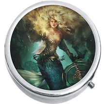 Mermaid Warrior Medicine Vitamin Compact Pill Box - $9.78