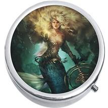 Mermaid Warrior Medicine Vitamin Compact Pill Box - €8,24 EUR