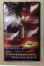 USA United we Stand Eagle Flag Light Switch Outlet Wall Cover Plate Home Decor image 1