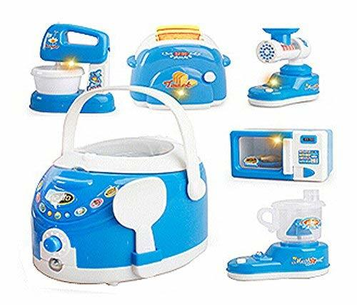 PANDA SUPERSTORE Set of 6 Lovely Mini Home Appliance Model Toys Kids Electronic
