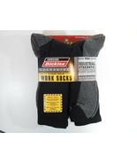 Dickies Size 12-15 Big and Tall Mens Comfort Crew Work Socks 5 Pairs Pack Black - $23.95