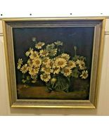 """STILL LIFE - DAISIES ""  BY FRANCES GEORGE (OIL PAINTING, 15 1/4"" X 15"") - $399.95"