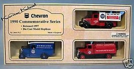 CHEVRON 1990 SERIES DIE CAST TRUCKS REISSUED 1997  - LLEDO - NIB - $24.14