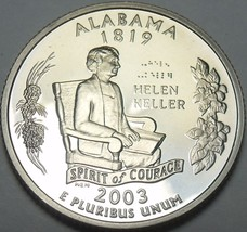 Cameo Proof 2003-S Alabama State Quarter~We Have Every State Quarter~Fre... - $5.58