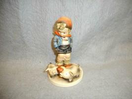 VINTAGE GOEBEL  HUMMEL FARM BOY NO. 66 TMK 3 5 1/2 INCH  N/R - $24.99