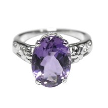 Top Class Amethyst 10x14 mm Oval Faceted Cut Gemstone 925 Sterling Silve... - $26.99