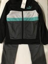 PUMA Little Boys Black Tricot Jacket and Pant Set New Size 5 - $24.74