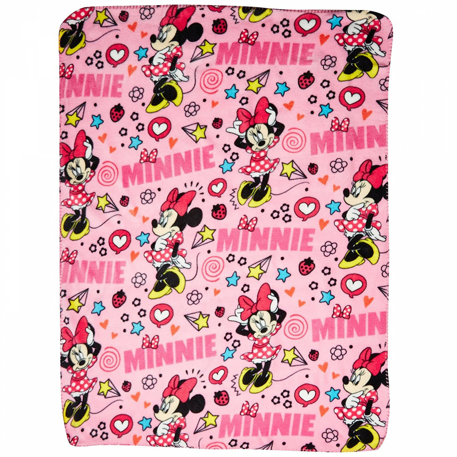 Disney Minnie Mouse Character Doodles Throw Blanket Pink - $36.98