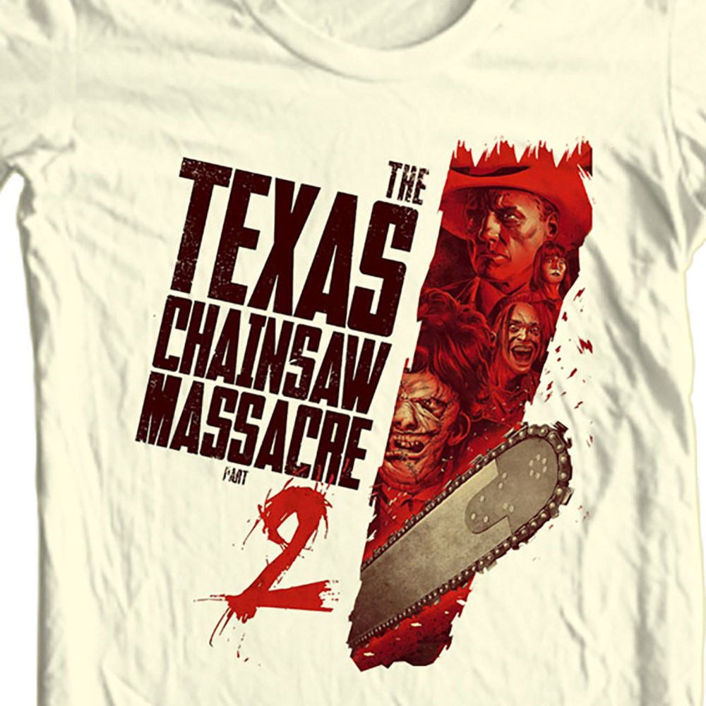 Nsaw massacre 2 t shirt fior sale online leatherface graphic tee shirt store classic horror film