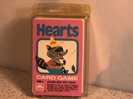 VINTAGE GOLDEN CARD GAME DECK WESTERN PUBLISHING HEARTS RACCOON FISHING ... - $19.75