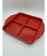 Longaberger Woven Traditions 8x8 Divided Dish Tomato - $44.50