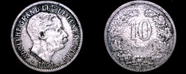 1901 Luxembourg 10 Centimes World Coin - $8.99