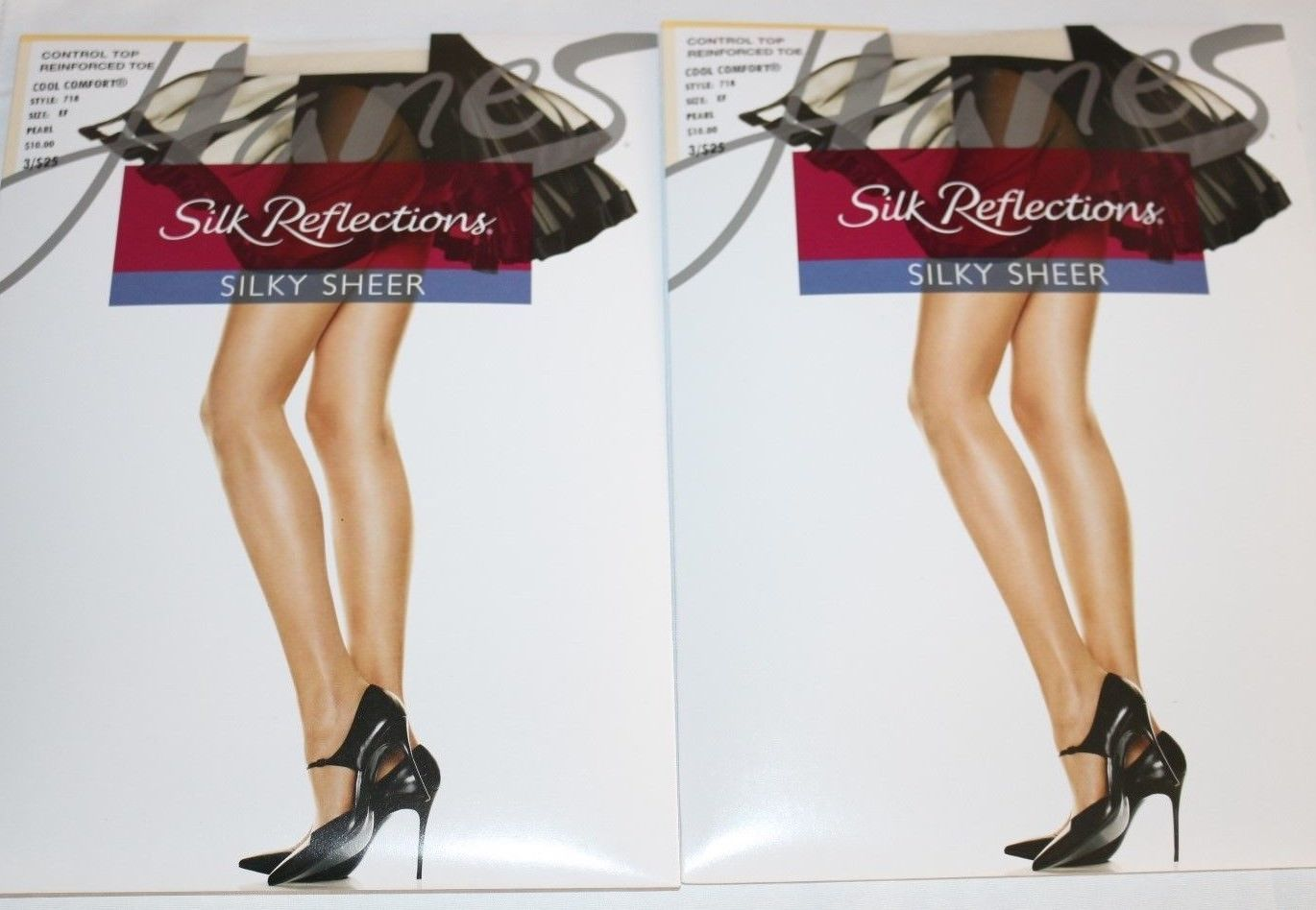 097f42e763422 S l1600. S l1600. Previous. Hanes Silk Reflections Size EF Pearl Control  Top Reinforced Toe ...