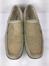 Merrell driving Shoes Tan Suede Casual Slip On Loafers Mens Size 9.5 M Buckback - $39.87