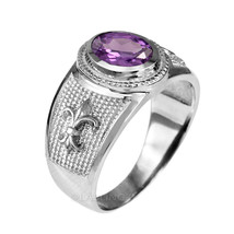 Sterlingsilber LILIE Ehering Februar Geburtsstein Lila CZ Ring - $49.99