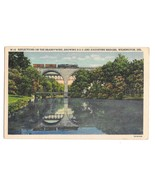 Brandywine River B&O and Augustine Bridges Train Wilmiington DE Linen Po... - $4.99