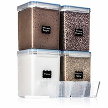 EXTRA LARGE WIDE & DEEP Food Storage Airtight Pantry Containers [Set of ... - €80,16 EUR