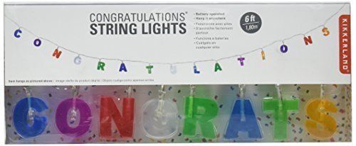 Kikkerland Congratulations String Lights