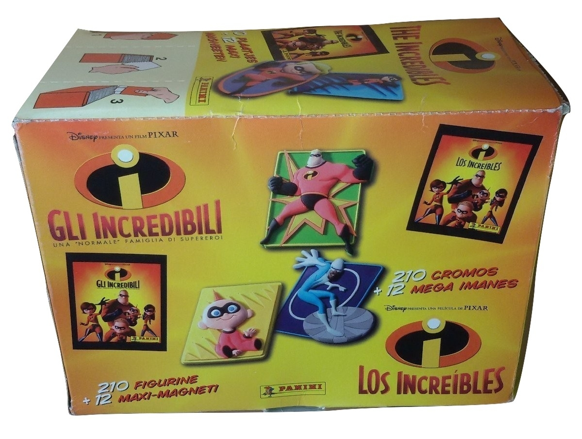 The Incredibles Box 20 Packs Stickers + 3D Magnets Panini Disney