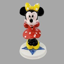 Minnie Mouse Disney Characters Schmid Hand Painted Standing Figurine With Base - $31.92