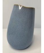 Accent Décor - Ceramic Shore Blue Speckled Tilted Vase - $11.83