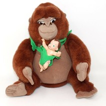 Vintage 1998 Disney Tarzan baby doll Heartbeat Kala Gorilla plush soft t... - $35.49