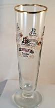 LINDEMANS MERCHANT DU VIN GLASS BEER KRIEK PECHE POMME FRAMBOISE GOLD RIM  - $12.71