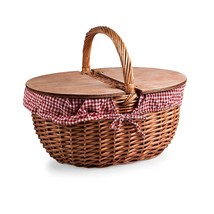 Picnic Time Country Picnic Basket with Red/White Gingham Liner - $44.31