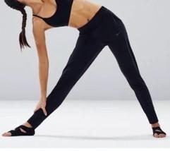 Nike Coton Bio Leggings XS Noir Pantalon de Course Ceinture Cheville Légendaires - $32.28