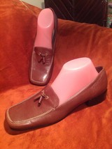 New Etienne Aigner Peachy 9N Women's Brown Leather Tassle Loafers Shoes Msp $117 - $44.54