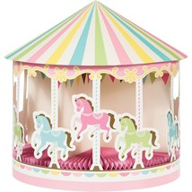 Carousel Centerpiece Baby Shower Table Decoration 3D with Honeycomb - $9.40