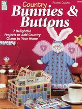 Country Bunnies & Buttons 7 Designs Plastic Canvas PATTERN/INSTRUCTIONS - $4.47