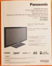 Panasonic TC-P50X1 TC-P42X1 Operating Instructions Manual - Very Good Co... - $1.99