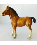Breyer Clydesdale Horse Foal #84 Vintage 1969-89 Semi-Gloss Chestnut Tra... - $19.34
