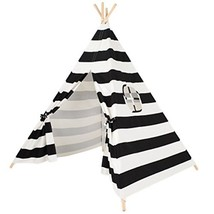 ESHOWODS Cotton Canvas Kids Teepee Tent Tipi Playhouse with Mat and Carr... - $111.02