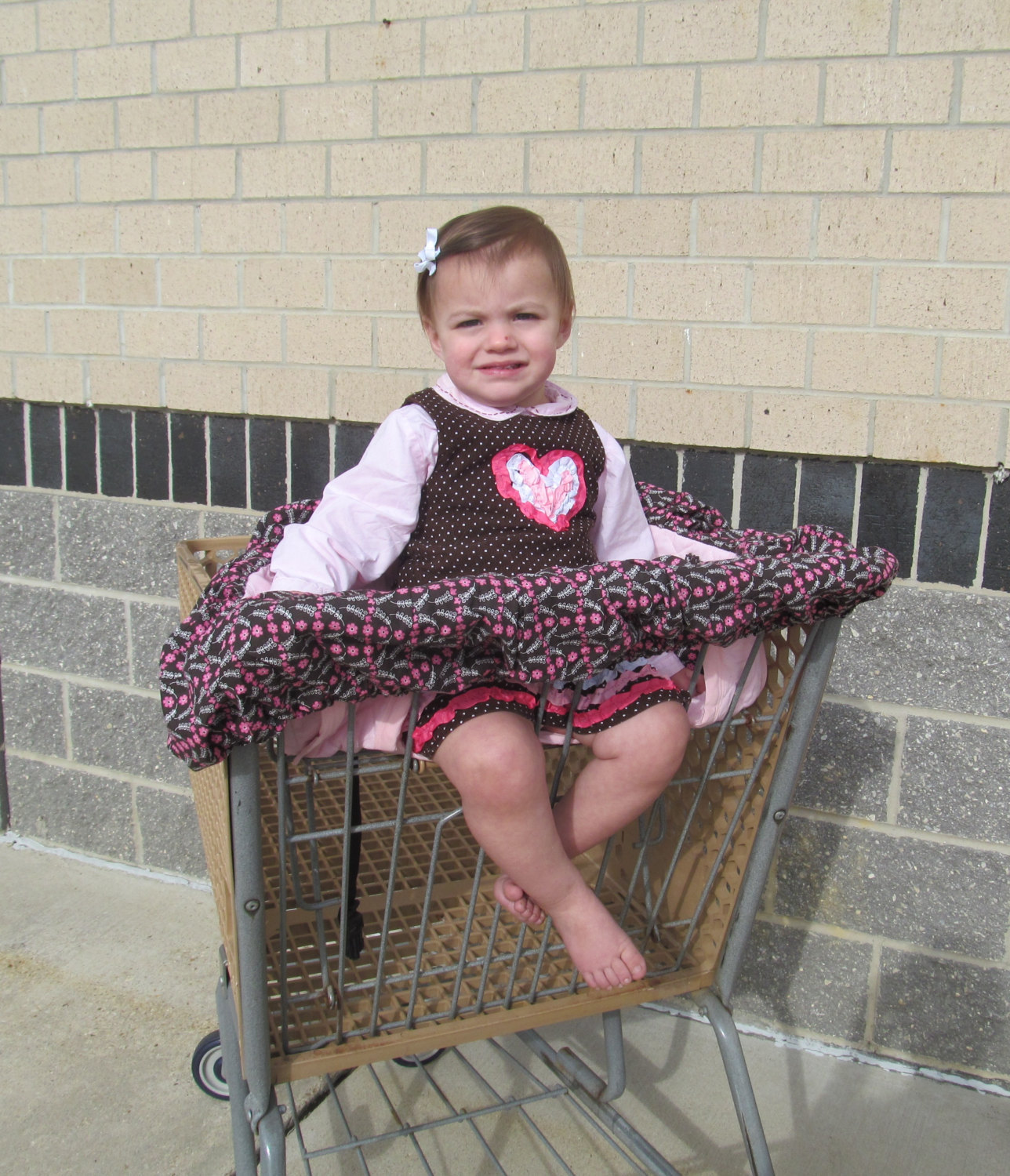 Primary image for Handmade Shopping Cart Cover, keeps baby away from germs, even fits Target Carts