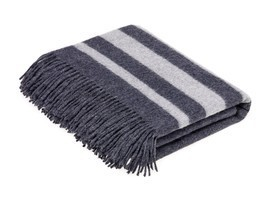 Seville Stripe - Wool/Angora Throw - Charcoal - ₹8,506.58 INR