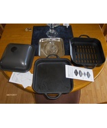 Technique Cast Iron 11 inch BBQ Grill Pan  Smoker  Square Dutch Oven Pot... - $95.00