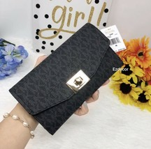 NWT Michael Kors Cassie Large Trifold Wallet Black *FREE SHIPPING* - $49.00