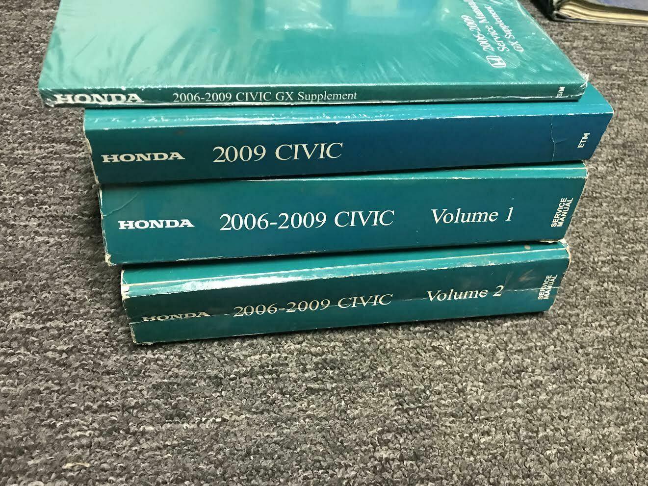 2006 2007 2008 2009 Honda Civic Service Shop Workshop Repair Manual Set W ETM