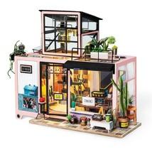 Miniature Wooden Doll House New Diy Kevin Studio Furniture Model Building Kits - $79.99