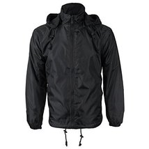 Renegade Men's Reversible Water Resistant Polar Fleece Lined Hooded Rain Jacket
