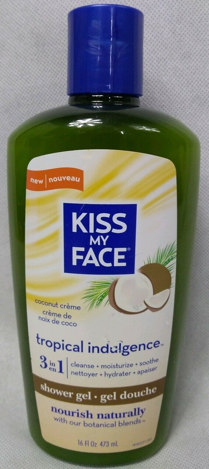Kiss My Face Shower Gel Tropical Indulgence 16oz NEW Coconut Cream - $16.78