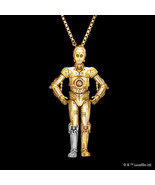 Star Wars REPAIRED C-3PO Necklace K18 Yellow Gold K18 White Gold Pendant - $2,630.43